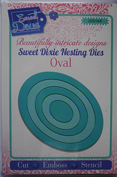 set of 5 Sweet Dixie Oval shaped Nesting Dies SDD164