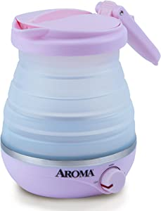 Aroma Housewares AWK-080MVP Travel Electric Kettle, 0.6 L, Pink