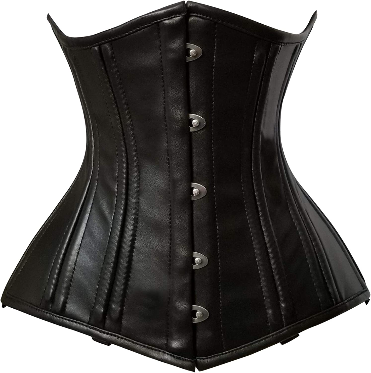 Supper Waist Cincher Tight Lacing Hourglass Heavy Duty Cotton /& Leather Corsets