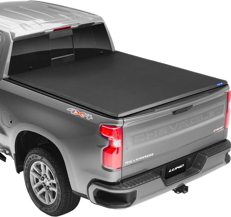950132 66.7 Lund Genesis Tri-Fold Fits 2014-2021 Toyota Tundra w//o Track System 5 7 Bed Soft Folding Truck Bed Tonneau Cover