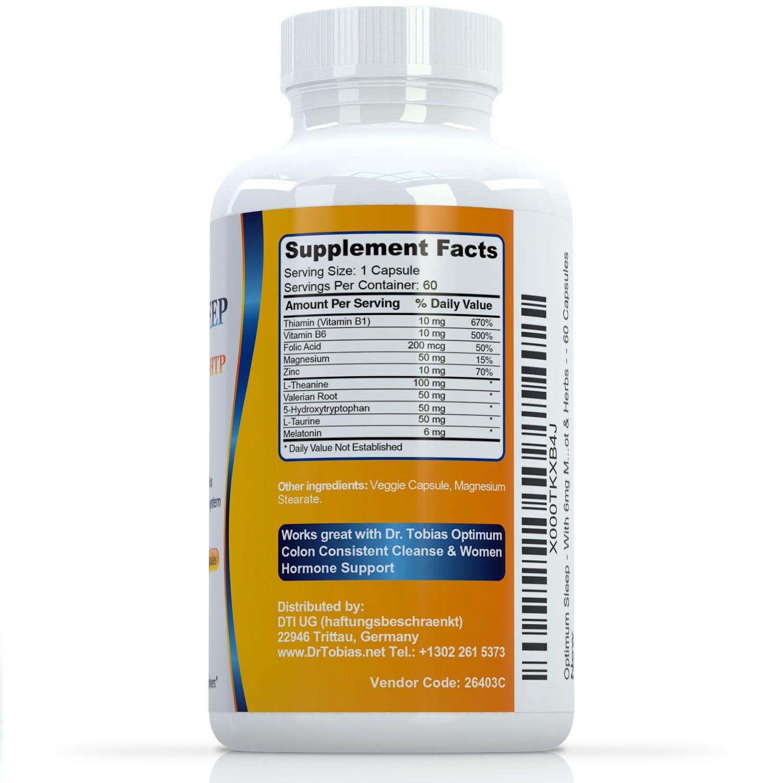 Amazon.com: Optimum Sleep - With 6mg Melatonin, 5-HTP, Valerian Root & Herbs - 60 Capsules: Health & Personal Care