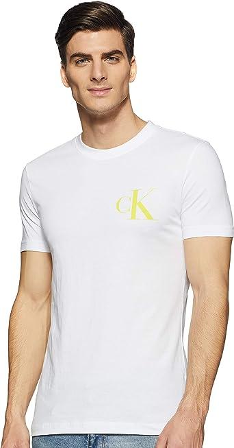 Calvin Klein Instit Back Pop Logo Slim tee Camiseta para Hombre: Amazon.es: Ropa y accesorios