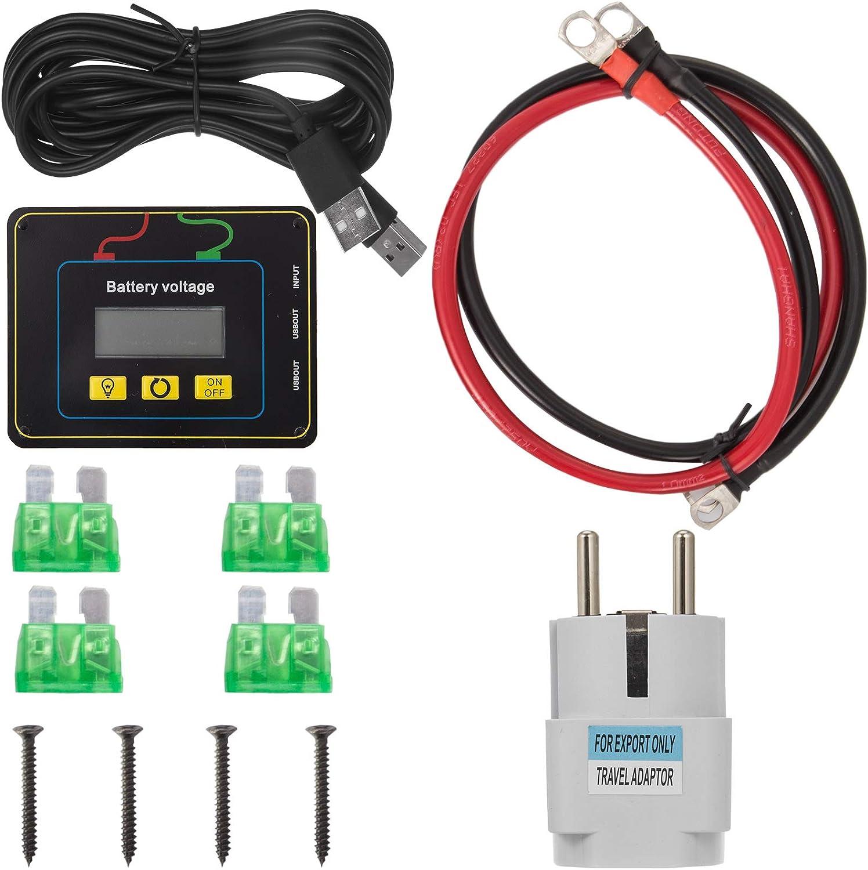 VEVOR Inverter di Potenza da 1000 W Inverter da 24 V CC a 230 V CA con Telecomando Peak Power 2000 W