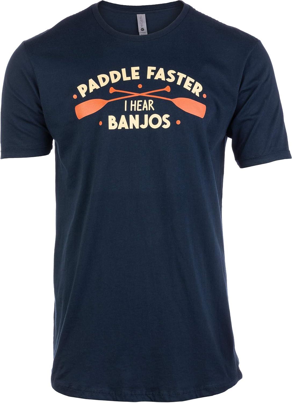 Tall Tee: Paddle Faster, I Hear Banjos   Funny Camping, River Rafting Canoe Kayak T-Shirt