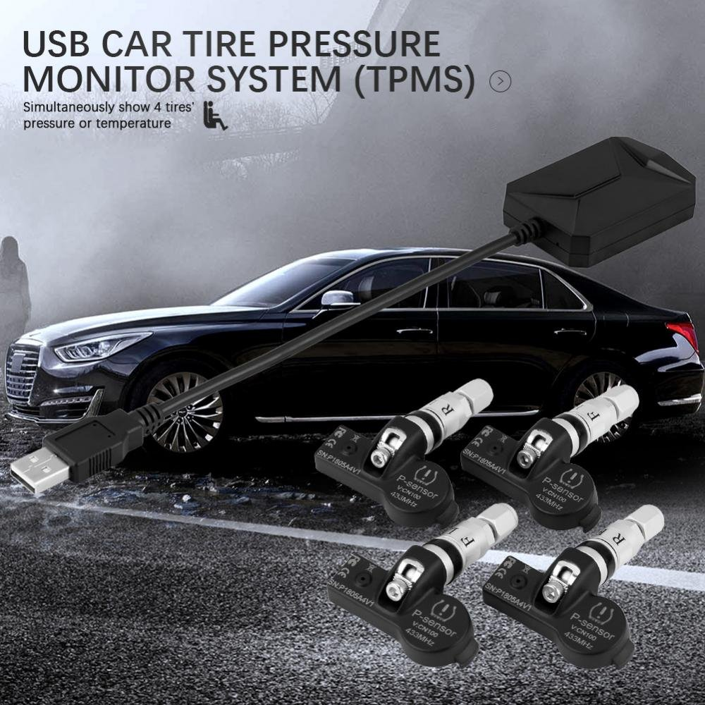 Car USB TPMS Internal Cap Sensors, Keenso USB Tire Internal Sensors Replacement for Android Car Navigation Display by Keenso (Image #4)