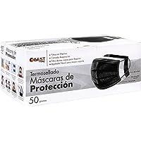 Best Trading 50 Cubrebocas Color Negro, Tapabocas Calidad Premium, Termosellado con 3 Capas de Protección, Mascarilla…
