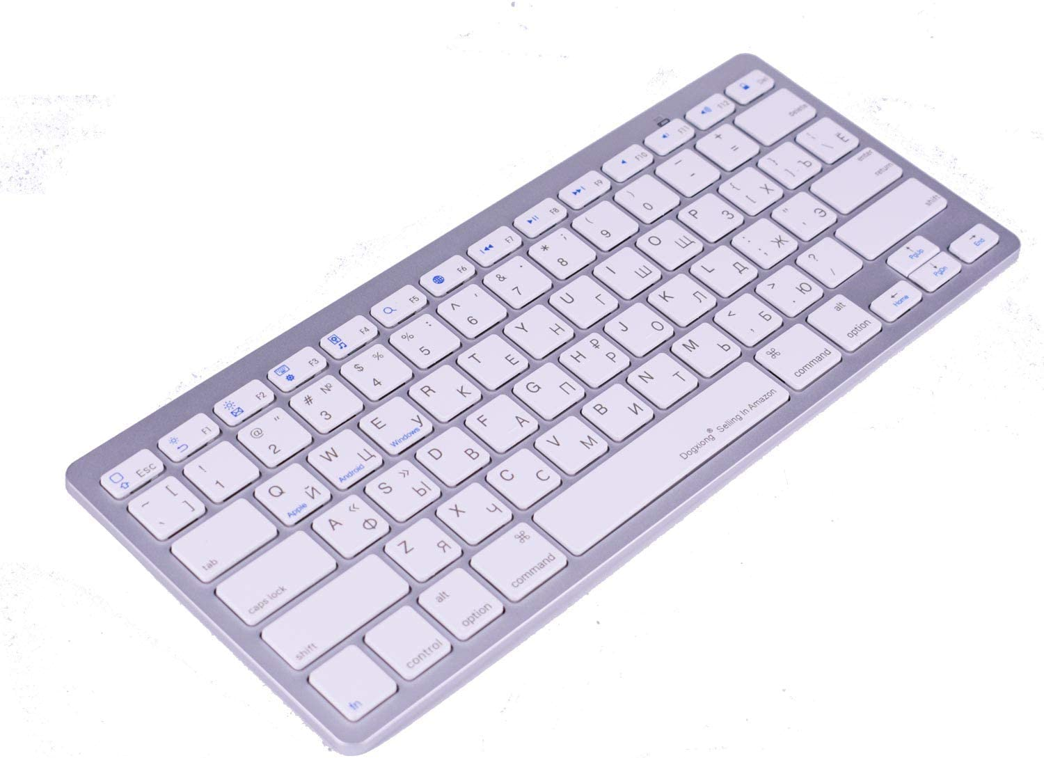 Work Efficiency Russian Language Functional Shortcuts Hotkey Wireless Bluetooth Keyboard for Dell Thinkpad iMac MacBook Pro,iPad Pro 11 12.9, iPad Air Mini,iPhone X XS XR MAX Surface Pro 4 5 6 7