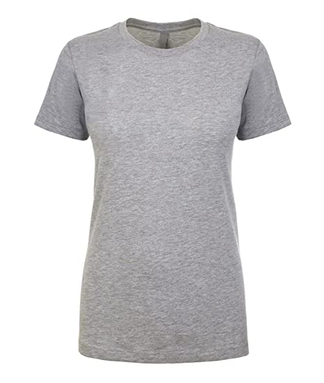 6324e555c Next Level NL1510 Women's Ideal Crew Short Sleeve T-Shirt Heather Grey XS