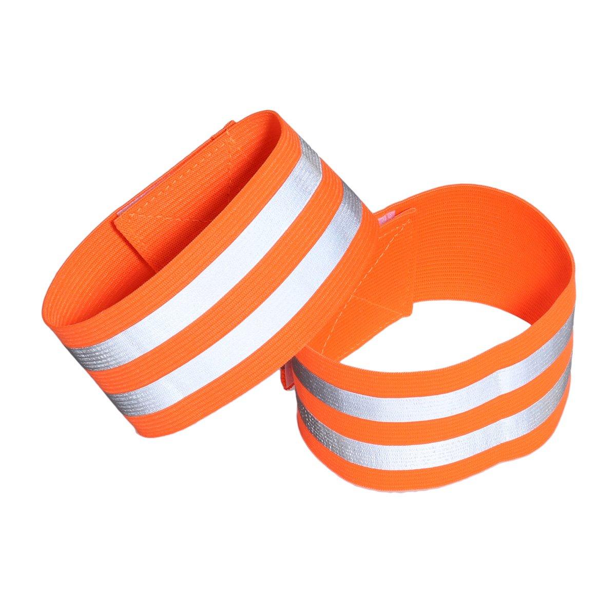 LIOOBO 1 para Reflektierende Bänder für Handgelenk Arm Knöchelbein Reflektierende Laufbekleidung für Männer Frauen Nachtlauf Radfahren Wandern Fahrrad