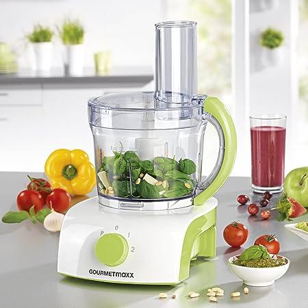 Gourmet Maxx Robot de cocina multifuncional con 3 accesorios diferentes para mezclar, 1 L, 350 W, color verde: Amazon.es: Hogar