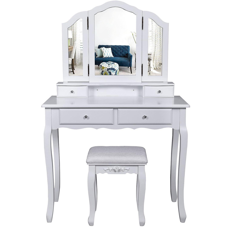 amazon.it: toelette - camera da letto: casa e cucina - Toilette Provenzale Con Specchio E Sgabello