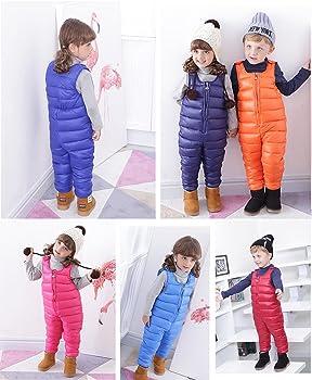 cdde43481 Amazon.com: Roffatide Unisex Kids Packable Down Puffer Pants Winter ...