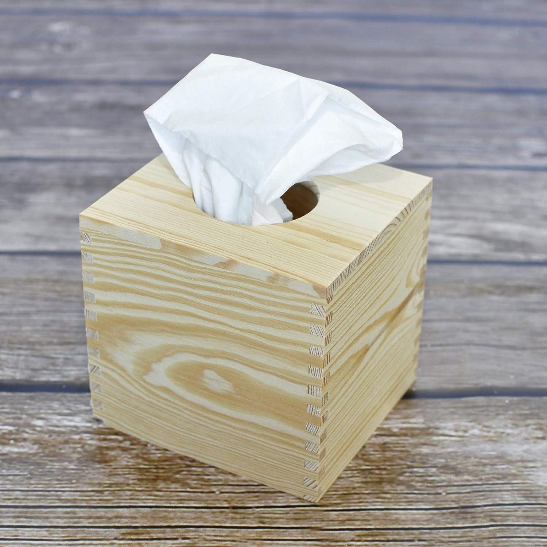 Creative Deco Caja Pañuelos Madera Papel | 13 x 14,5 x 14 cm | Tapa Deslizante | Servilletas Cubo Decoupage Decorar Almacenamiento y Decoración: Amazon.es: ...