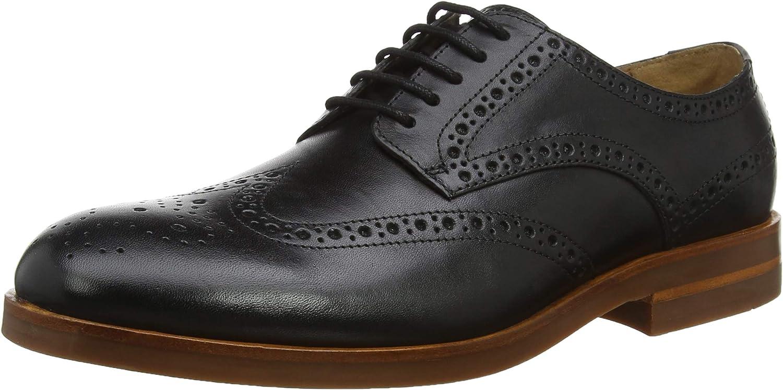TALLA 40.5 EU. H by Hudson Balleter, Zapatos de Cordones Brogue para Hombre