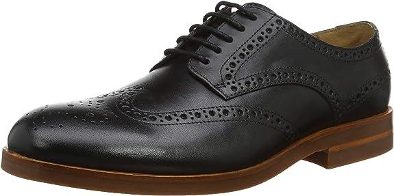 TALLA 42 EU. H by Hudson Balleter, Zapatos de Cordones Brogue para Hombre