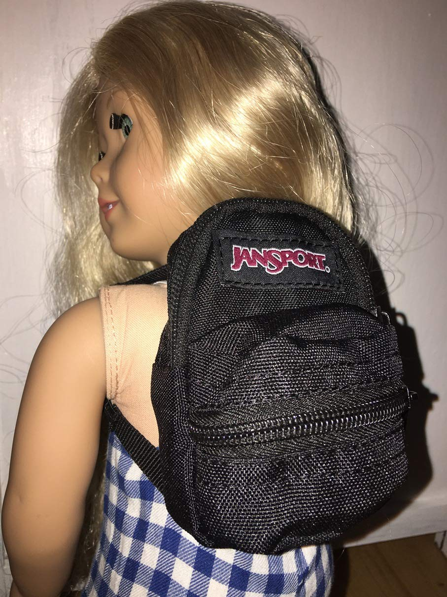 Black School Backpack Fits American girl Doll Fits Our Generation Bag Purse