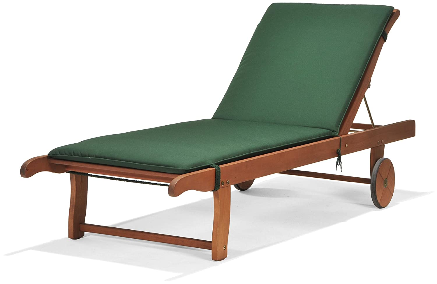 Chichester FSC Eucalyptus Wood Outdoor Sunlounger With Weather Tex Cushion Amazoncouk Garden Outdoors