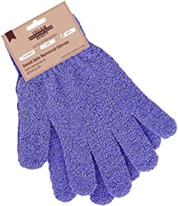 Exclaim Beauty Exfoliating Gloves Body Scrubber Gloves For Shower, Spa, Massage Shower Gloves Dual Texture Bath Gloves | Dead Skin Remover With Adjustable Stripes