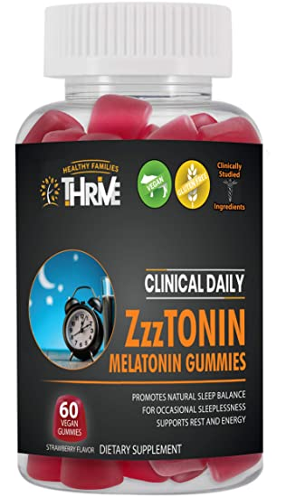 Amazon.com: Gomas de melatonina de 5 mg. Ayuda natural para ...