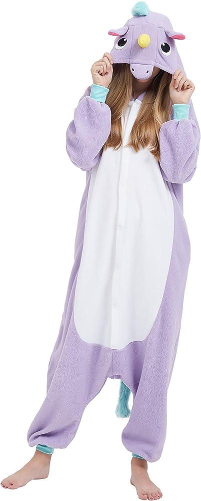 Fandecie Unisex Adulto Animal Costume Traje Pijamas Jumpsuit Mujer ...