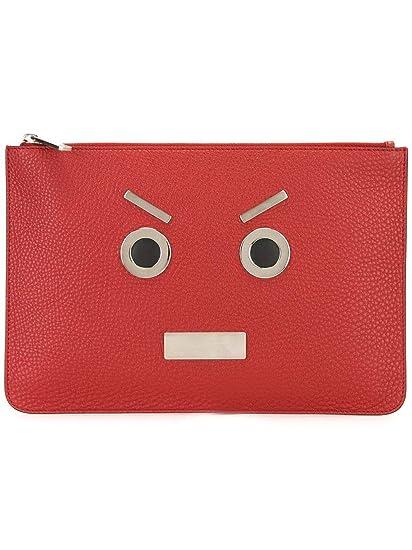 897a3d4f8f Fendi Men s 7N00789qjf0adr-Mcf Red Leather Clutch  Amazon.co.uk  Clothing
