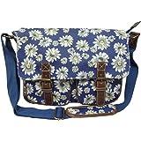 City Girl Ladies Girls Polka Dot (Spot)/Flower (Floral) Print Satchel/Shoulder Bag/School (University) Cross Body Bag