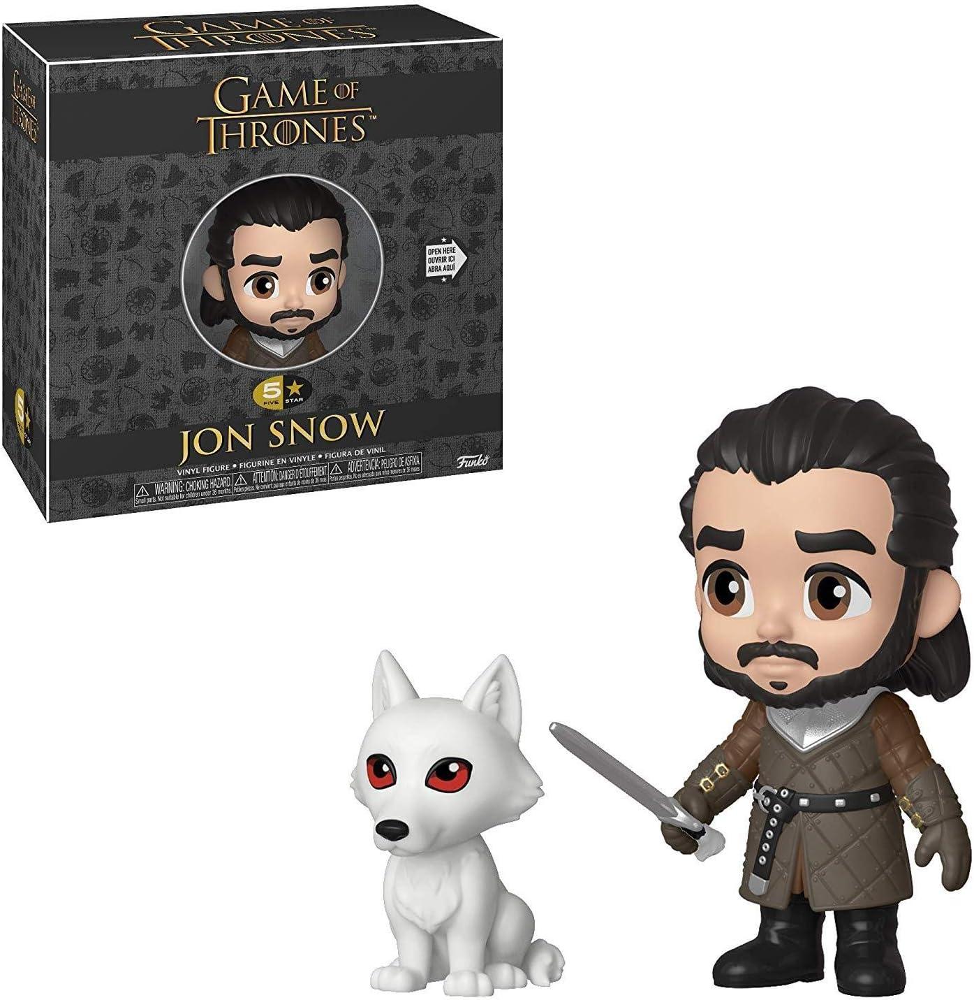 Juego De Tronos - Figura Funko 5 Star Jon Nieve w/ Fantasma 10cm: Amazon.es: Juguetes y juegos