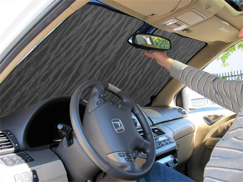 Intro-Tech Silver w//Sensor Automotive HI-34A Customer Auto Shade Sun Sunshade