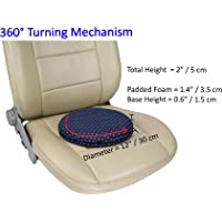 "ObboMed-Ss-2710 360°Rotation Swivel Seat Cushion, Specially Compact Size For Car Use To Suit Car Seat Space, Washable Cover, Easy Movement, Smaller Size 12"" X 2.5"""