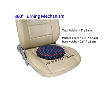 ObboMed SS 2710N 360 Rotation Compact Portable Swivel Seat Cushion With Non Skid