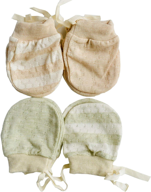 Moufles de nouveau-n/é ultra fines sans rayures gants en coton bio respirant pour b/éb/é 0-6 mois
