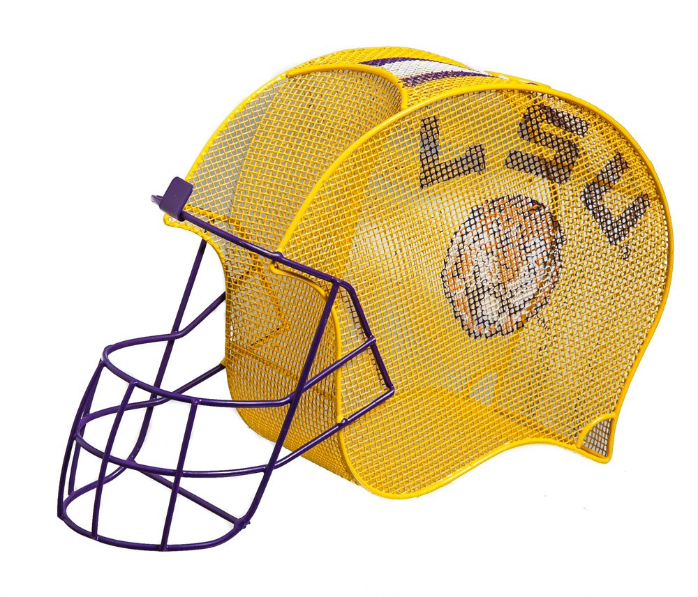 LSU Tigers Football Helmet Bottle and Cork Cage Holder