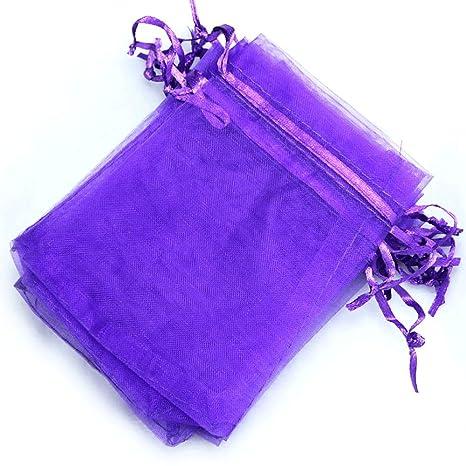 Bolsas de organza de varios colores, 100 unidades, 10 x 15 ...