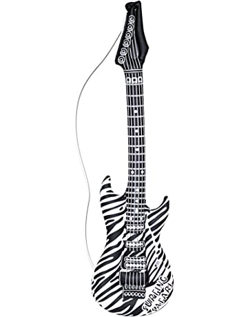 WIDMANN 23942 hinchable Guitarra, unisex ? Adultos, Negro, Color blanco, One size