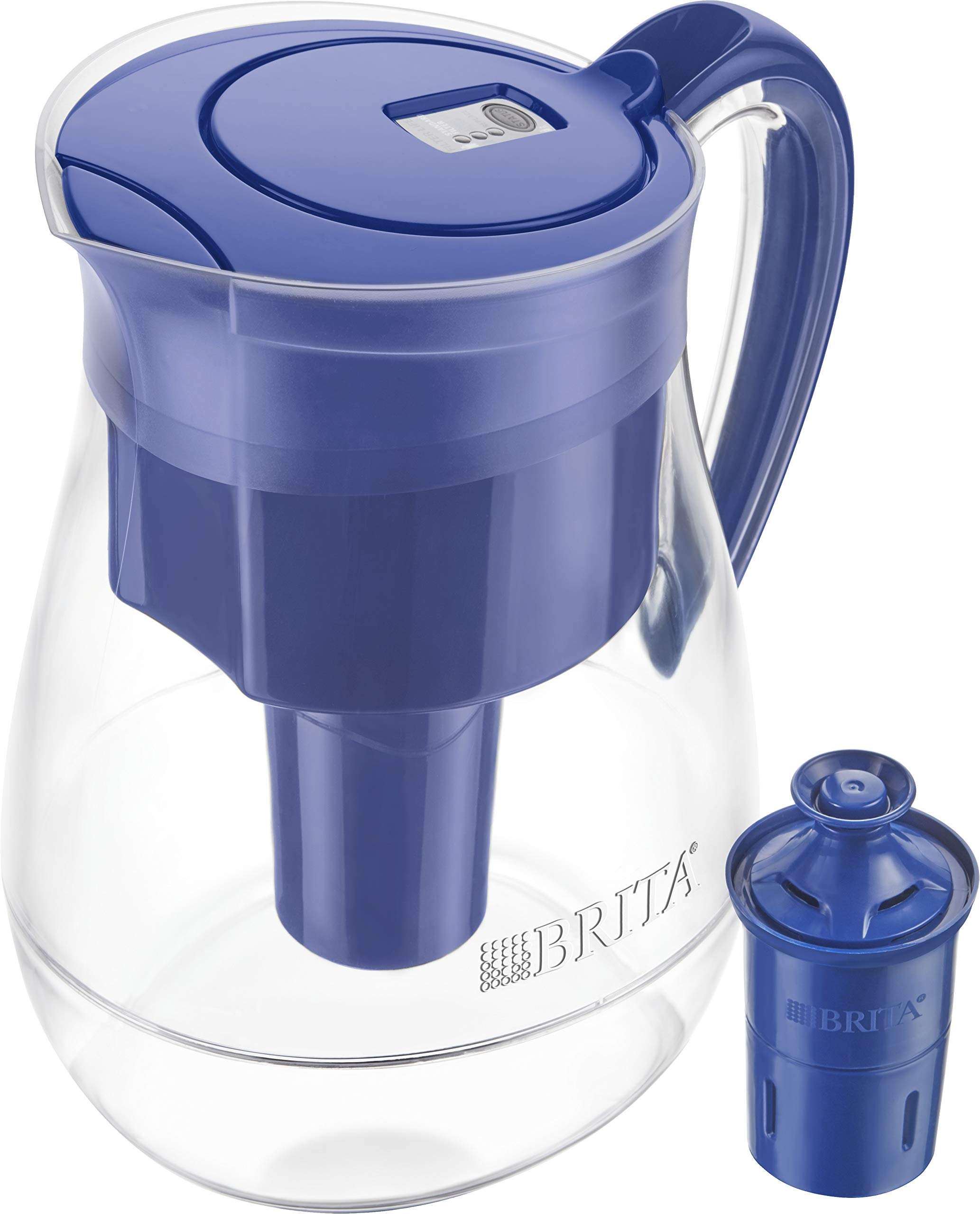 Brita Longlast Monterey Water Filter Pitcher, Cloud Limoges, Large 10 Cup, 1 Count