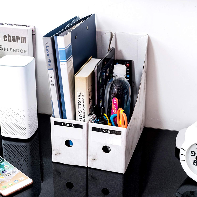 casa file Storage Marble Storage organizer Sorter mensola eccellente per la scuola dormitorio Hinataa file portariviste,5/pcs Kraft Paper Magazine rack file cartella ufficio