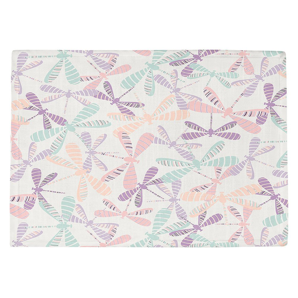DIANOCHEキッチンPlaceマットby Artist Metka Hiti – トンボ Set of 4 Placemats PM-MetkaHitiDragonflies2 Set of 4 Placemats  B01N3PGJU7