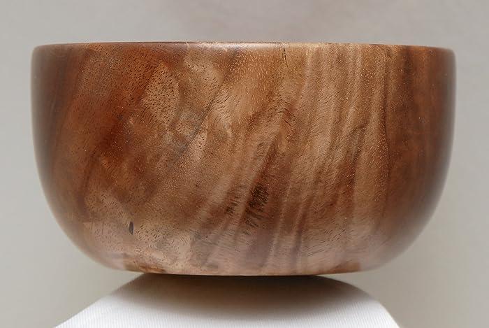 Amazon Com Walnut Wood Hand Turned Bowl Highly Figured With Satin