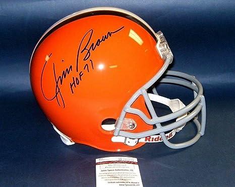 Amazon.com  Signed Jim Brown Helmet - Fs Hof 71 - JSA Certified -  Autographed NFL Helmets  Sports Collectibles d1c14fb6e