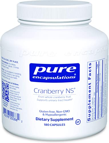 Pure Encapsulations – Cranberry NS – Hypoallergenic Supplement to Support Urinary Tract Health – 180 Capsules