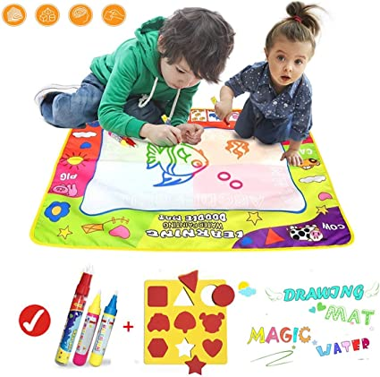 Children Aqua Doodle Drawing Mat 2 Water Drawing Pens Educational Toy 3 Years