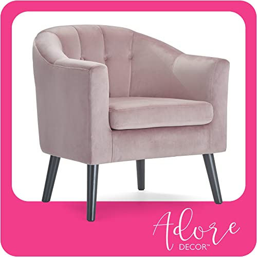 Adore Decor Ivey Accent Chair, Pink