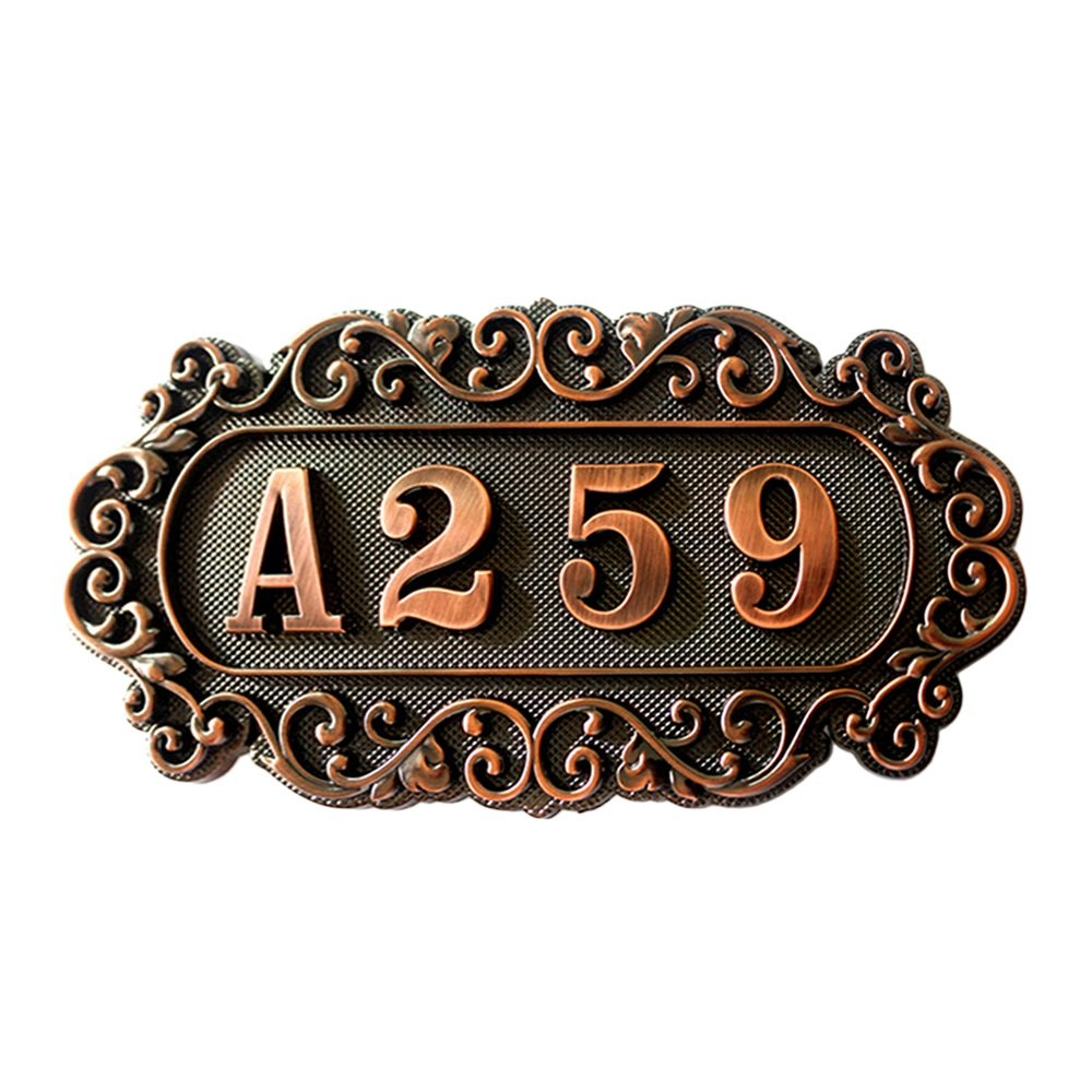 Aspire Customized Home Address Sign, House Hotel Number Sign, Address Plaque Sign, Small Size, Aprox 4.3 L x 7.2 W
