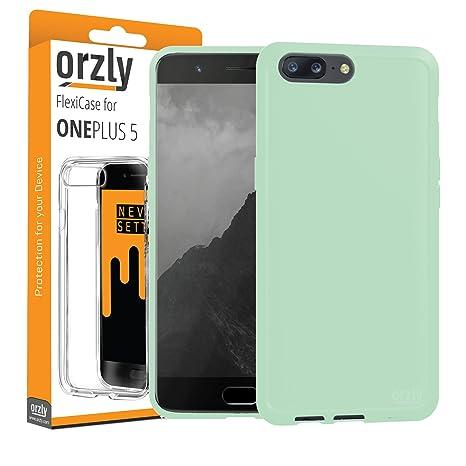 ORZLY® Funda para el OnePlus 5, FlexiCase OnePlus 5 – Carcasa Flexible Verde [Diseño Delgado] Protección [Anti-Arañazos] para el Nuevo Oneplus 5 2017
