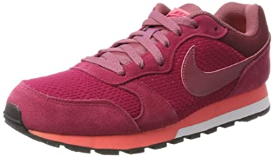 more photos 16c8d e680f Nike Damen MD Runner 2 Sneaker Rot (Noble Re D Port Hot Punch) 36