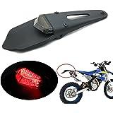 LED Tail Light for Dirt Bike Motocross XR CRF KLX Enduro SM EXC Honda CR125R CR85R CRF1000F CBF125 CRF450X CRF450R CRF250R CRF250X CRF150R Motard Naked Cafe Racer Kawasaki KLE650 Versys 07-12(Smoke)
