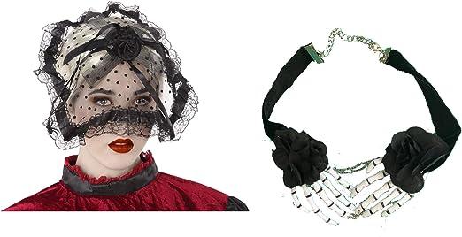 Cisne 2013, S.L. Pack de Diadema Tocado Negro Y Collar ...