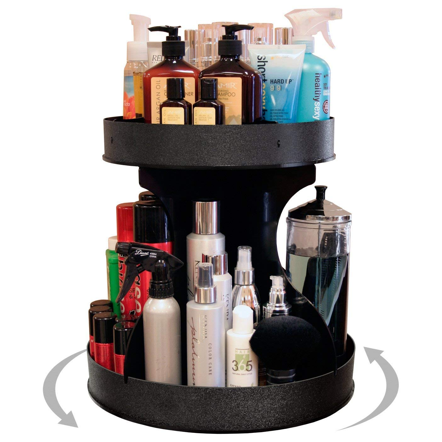 Professional Stylists and Divas Will Love 15 Wide, Spinning Cosmetic Organizer. Great for Salons or for Cosmetic Divas Made by PPM in the USA