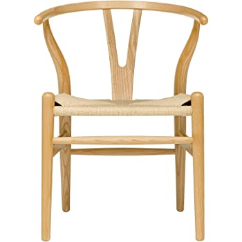 Attrayant Hans Wegner Wishbone Style Woven Seat Chair (Ash With Natural Cord)