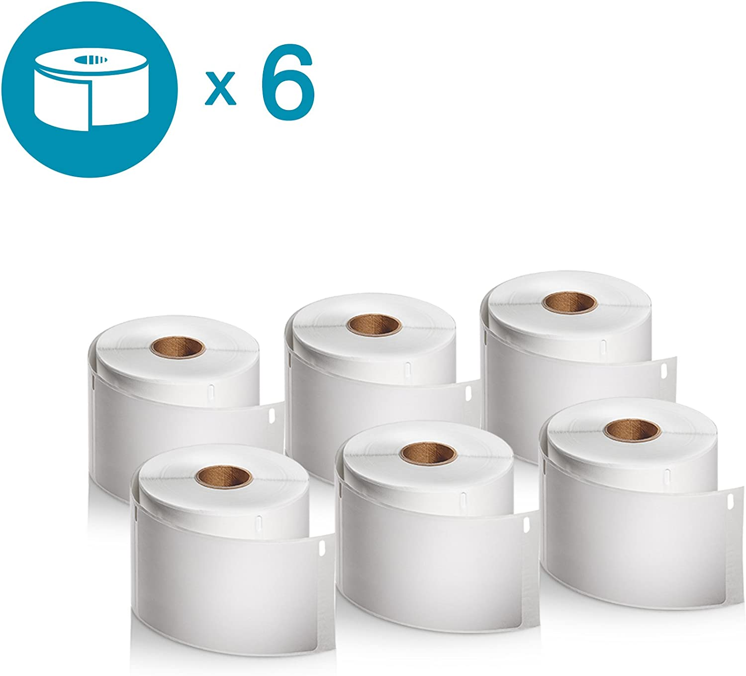 DYMO LW 30256 BLUE 6 Rolls of 300 Large Shipping Labels FAST SHIP ! SIX
